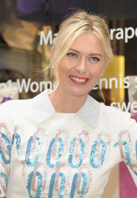 Professional tennis player Maria Sharapova appears for her Sugarpova candy launch at Henri Bendel on August 20, 2012 in New York City.