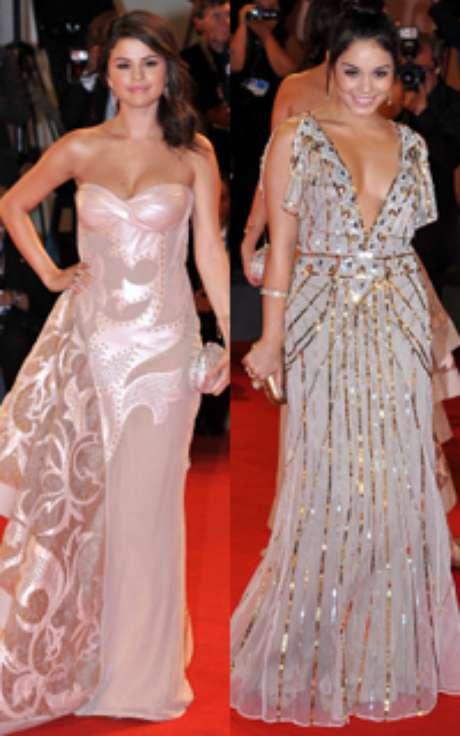 Selena Gómez, novia de Justin Bieber, y Vanessa Hudgens, dos de las estrellas más esperadas en el Festival de Cine de Venecia. Las actrices protagonizaron un auténtico duelo de estilo en el estreno de su última película, 'Spring Breakers', donde interpretan a dos adolescentes que se dejan llevar por una ola de sexo y drogas.