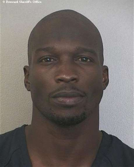 NFL player Chad Johnson is shown in this police photograph released to Reuters August 13, 2012.