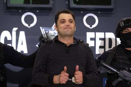 """Sonriente y desafiante se mostró ante los medios de comunicación Ramiro Pozos González, alias """"El Molca"""", líder y fundador de la organización criminal conocida como """"La Resistencia""""."""