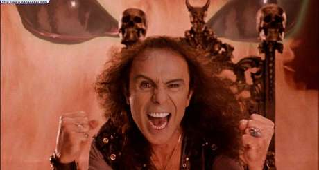 "Ronnie James Dio en la cinta de la banda de Jack Black, Tenacious D ""In The Pick of Destiny""."