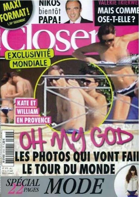 Una revista francesa publicó imágenes del Príncipe William y su esposa, Kate Middleton mientras vacacionaban en Francia. Lo serio del asunto fue que captaron a Middleton topless y ahora los Duques quieren demandar por invadir su intimidad.