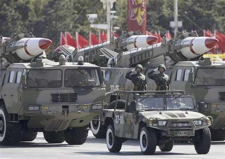 Missiles are displayed in a parade to celebrate the 60th anniversary of the founding of the People's Republic of China in Beijing in this October 1, 2009 file photo.