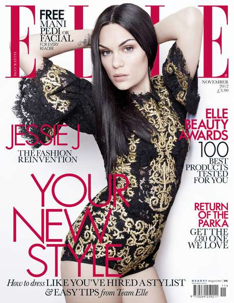 """British singer Jessie J is featured on the latest cover of ELLE magazine fully transformed from the Jessie J we met with her debut """"Who You Are."""" The singer says she wanted to be more feminine. Ms. J is currently in LA recording her second album which she promises will be more 'eclectic' than her debut and we can only guess her new found femininity will influence her new work. See more pictures from the magazine and pictures of Jessie J signing copies of her book """"Nice To Meet You"""" last week ahead."""