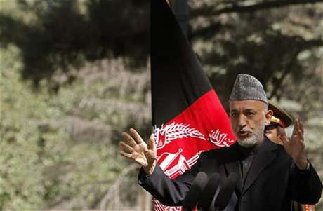 Afghanistan's President Hamid Karzai speaks during a news conference in Kabul October 4, 2012.