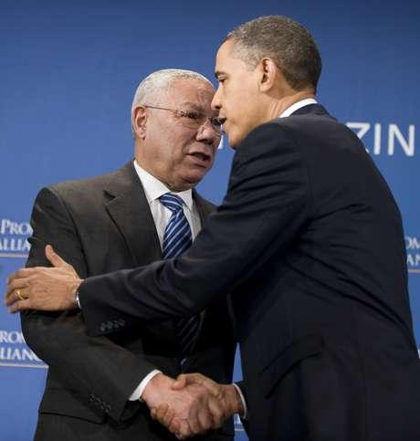 Colin Powell y Barack Obama, juntos, otra vez.