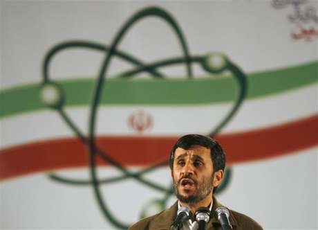 Iran's President Mahmoud Ahmadinejad speaks during a ceremony at the Natanz nuclear enrichment facility, 350 km (217 miles) south of Tehran, April 9, 2007.