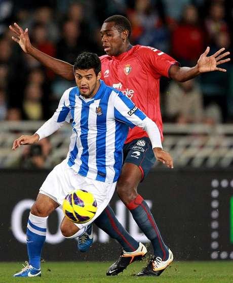 Carlos Vela no logró ayudar a la Real Sociedad en el empate sin goles ante el Osasuna.