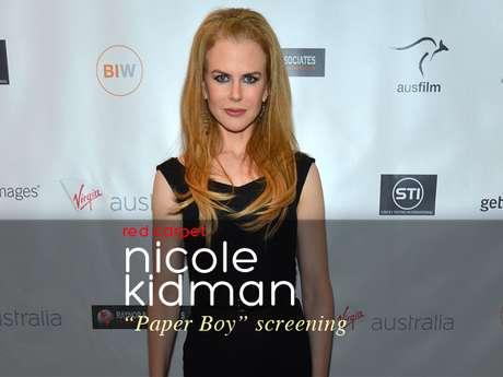 """Nicole Kidman rocked red heels at """"The Paperboy"""" screening in Los Angeles."""