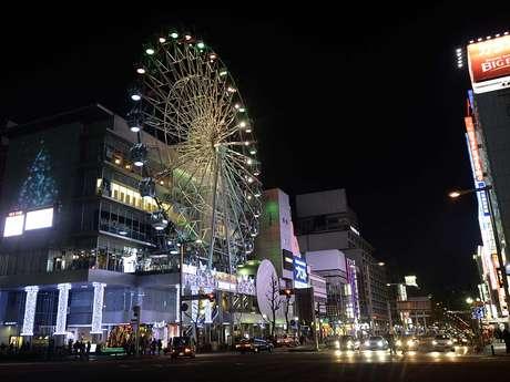 """""""Casa corintiana no Mundial"""", Nagoya é uma cidade recheada de pessoas de máscaras, templos, luzes e castelos Foto: Ricardo Matsukawa / Terra"""
