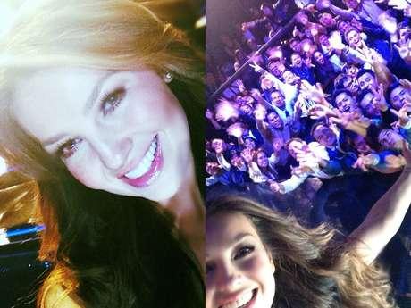 Thalía compartió en su cuenta de Twitter fotografías de su participación en 'La Voz... México 2'.