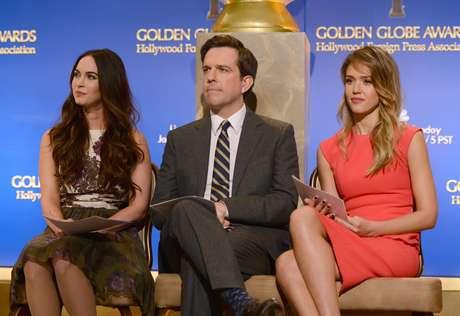 Megan Fox, Ed Helms y Jessica Alba dieron a conocer a los nominados a los Golden Globes 2013