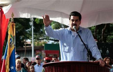 Venezuelan vice president Nicolas Maduro reads a statement about President Hugo Chavez's health condition in Guarico, in this Miraflores Palace handout photo, taken December 20, 2012.
