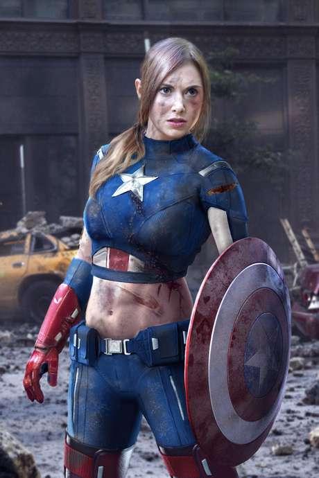 Alison Brie está cotada para viver par romântico de Steve Rogers no próximo 'Capitão América' Foto: Reprodução