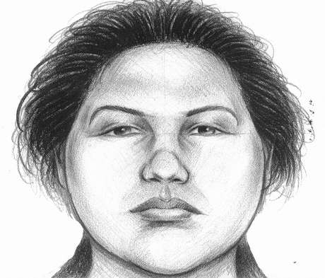 In this image provided by the New York City Police Department, a composite sketch showing the woman believed to have pushed a man to his death in front of a subway train on Thursday, Dec. 27, 2012 is shown.