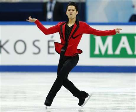 Daisuke Takahashi of Japan performs during the men's short programme at the ISU Grand Prix of Figure Skating Final in Sochi December 7, 2012.