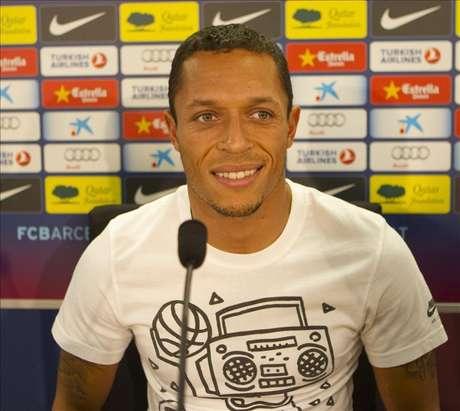 <p>El defensa brasileño del Barcelona,Adriano.</p>