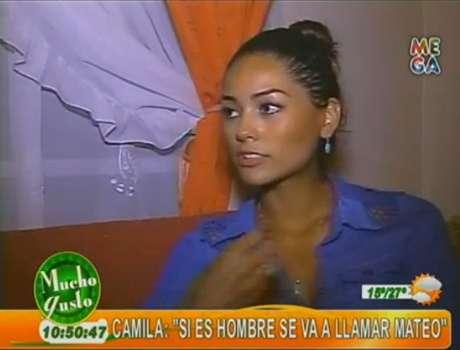 """La Miss Chile confesó su embarazo en """"Mucho gusto""""."""