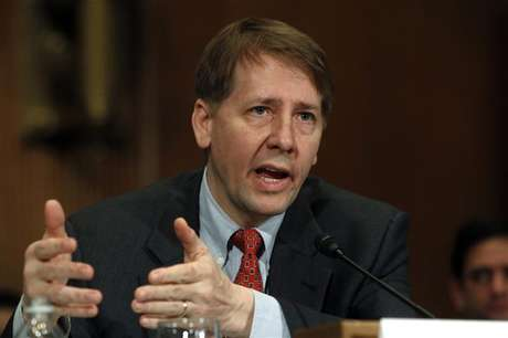 "Consumer Financial Protection Bureau Director Richard Cordray testifies before a Senate Banking, Housing and Urban Affairs Committee hearing on ""Holding the CFPB Accountable: Review of First Semi-annual Report"" on Capitol Hill in Washington January 31, 2012."