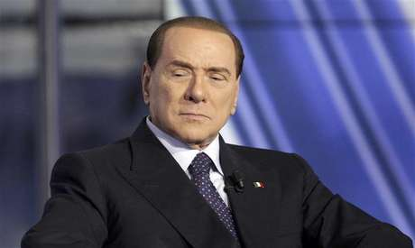 Italy's former Prime Minister Silvio Berlusconi appears as a guest on the RAI television show Porta a Porta (Door to Door) in Rome January 9, 2013.