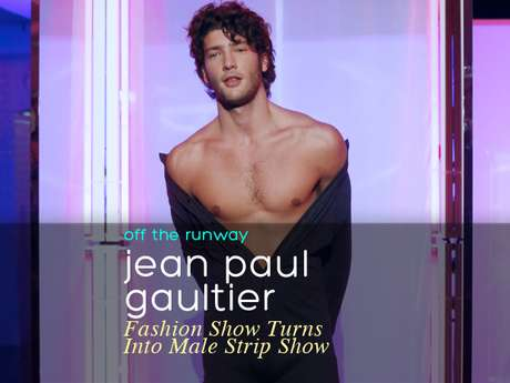 The Jean Paul Gaultier menswear show presentation in Paris turned up the heat on the runway. The male models instead of modeling their clothes, stripped them off in what looked more like a male strip show than a catwalk. We don't know what the designer was trying to convey but we are not going to argue with the creative genius he is.