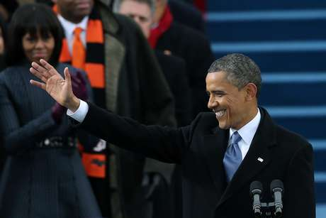 Obama arrived at his second inauguration on solid footing,.