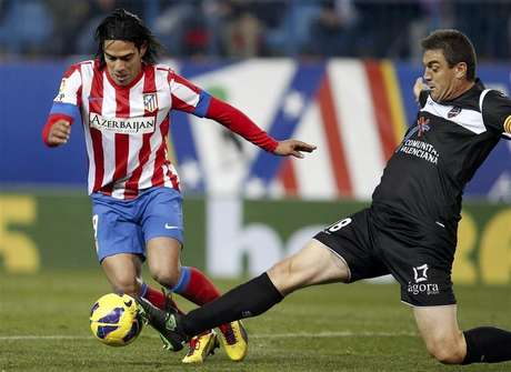 Falcao presentó una lesión el muslo izquierdo tras el duelo ante Levante.