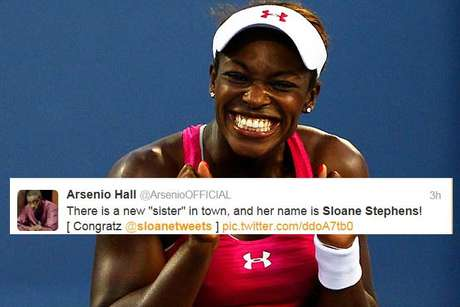 Luminaries from the entertainment and sports worlds chimed in on Sloane Stephens' stunning upset of Serena Williams in the Australian Open quarterfinals Tuesday night -- including Arsenio Hall.