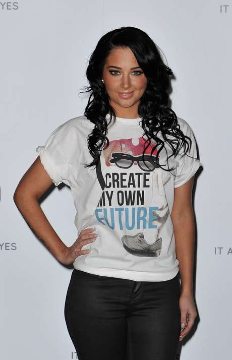 "'The X-Factor U.K.' judge, Tulisa Contostavlos, was looking casual for the NCS 2013 London launch. The ""Young"" hit maker wore a t-shirt that read, ""I create my own future."" What did you think of Tulisa's casual style?"