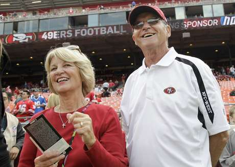 Jack and Jackie Harbaugh figure to be two of the stars of CBS' Super Bowl coverage next Sunday.
