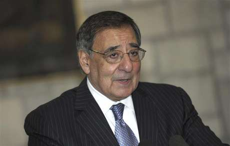 U.S. Defense Secretary Leon Panetta speaks about a suicide bombing near a NATO base, during a joint news conference with Afghan President Hamid Karzai at the Presidential Palace in Kabul December 13, 2012.