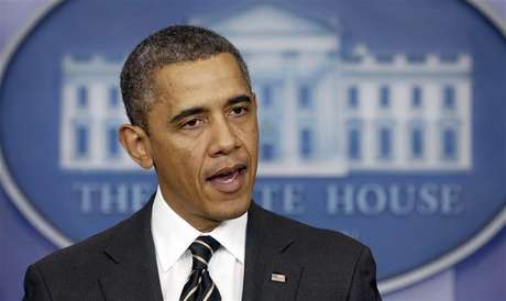 U.S. President Barack Obama speaks from the briefing room of the White House in Washington February 5, 2013.