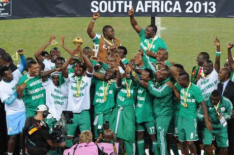 <p>Nigeria celebrates winning the African Cup of Nations for their third time.</p>