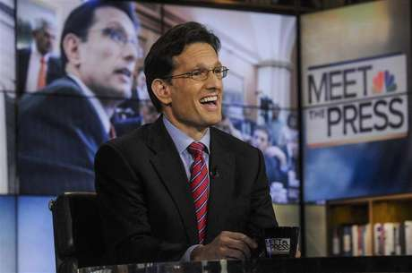 """U.S. Rep. Eric Cantor (R-VA) the No. 2 Republican in the House of Representatives, appears on """"Meet the Press"""" in Washington, February 10, 2013."""