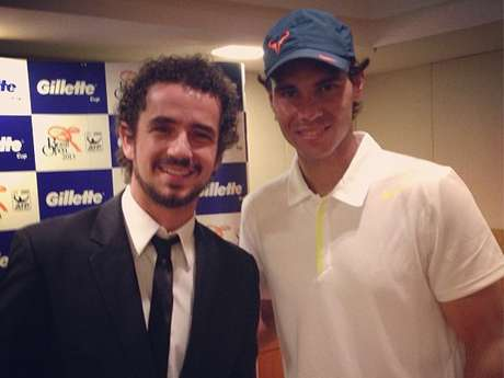 <p>Felipe Andreoli publicou foto ao lado de Rafael Nadal</p>