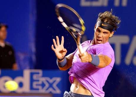 El español Rafael Nadal debutó en el Abierto Mexicano de Tenis ante el argentino Diego Schwartzman