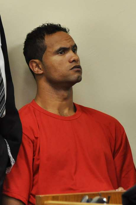 Goleiro Bruno, durante julgamento no Fórum de Contagem (MG)