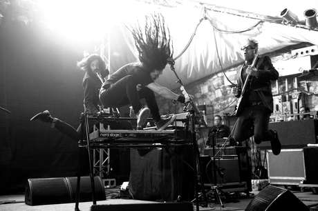 Legendary Mexican alt-rock band Café Tacuba brought their energetic live show to NPR's SXSW showcase at Stubbs Ampitheatre in Austin, Texas last night. The band will start touring this April, including appearances during Coachella, in support of their album 'El Objeto de Antes Llamado Disco' out now.