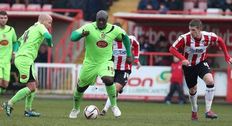 "<p>Known as ""The Beast"",  Akinfenwa plays for Northampton and can bench press up to 395 pounds.</p>"