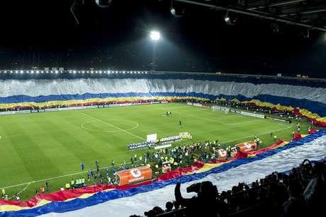 <p>La hinchada de Millonarios cumplió en la Copa Libertadores</p>