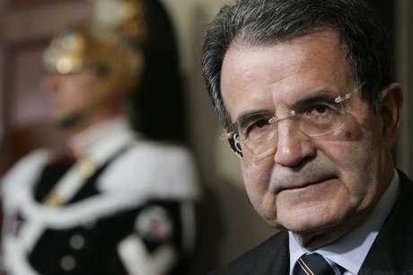 <p>El exprimer ministro Romano Prodi,</p>