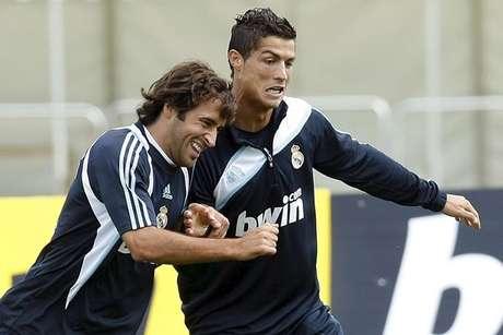 Raúl y Cristiano cuando jugaban en el Madrid