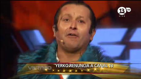 """El momento en que """"Yerko"""" se saca el maquillaje y supuestamente renuncia."""