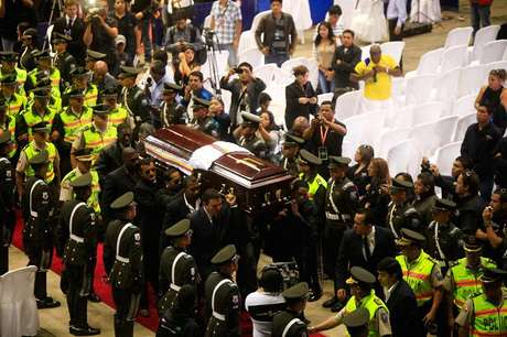 Misa en memoria de Christian Benítez, previo a su sepelio.
