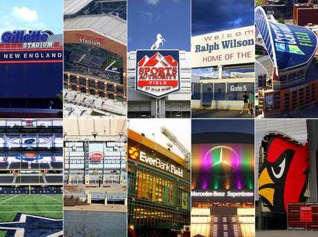 Una mirada a los 31 estadios de los equipos de la NFL.