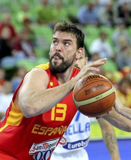 <p>El jugador español Marc Gasol .</p>
