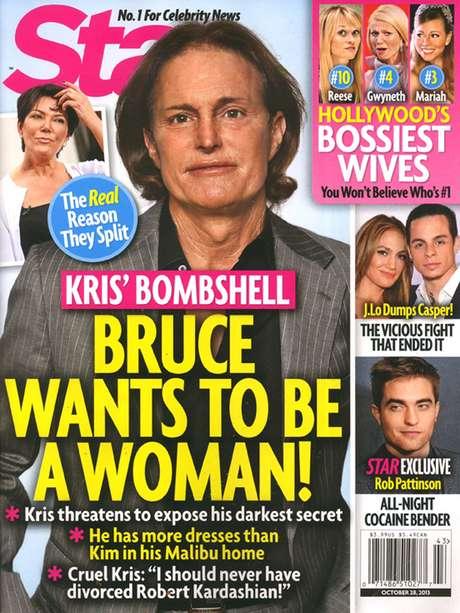 <p>En 2012, la misma revista Star publicó una historia sobreBruce Jenner y su afición al travestismo.</p>