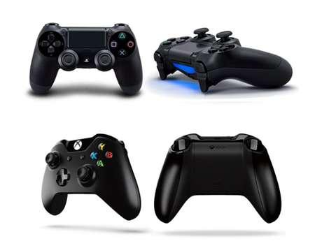 <p>Los controles del PlayStation 4 (arriba) junto a los de Xbox One (abajo)</p>