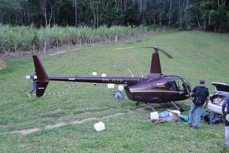 Helicóptero que pertence à empresa do deputado mineiro Gustavo Perrella foi apreendido com mais de 400 quilos de cocaína no Espírito Santo