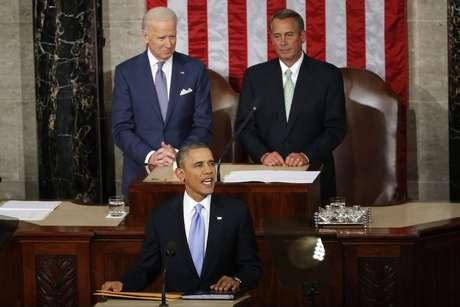 <p>Obama alabó la labor de su esposa Michelle Obama.</p>